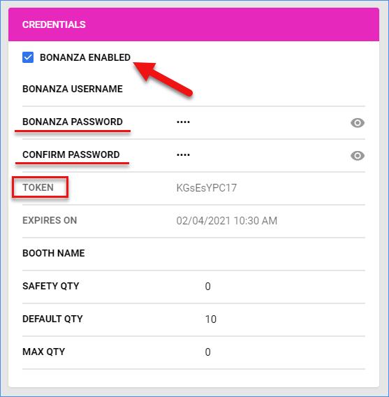 sellercloud bonanza general settings credentials