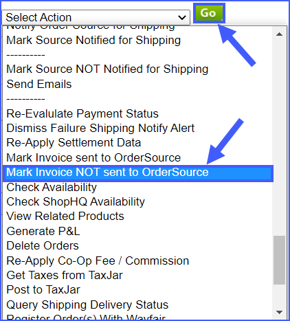 mark invoice not sent to order source