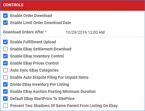 sellercloud delta ebay general settings company controls
