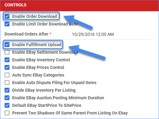 sellercloud delta enable ebay settings orders and tracking