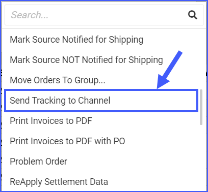Send Tracking to Channel Delta