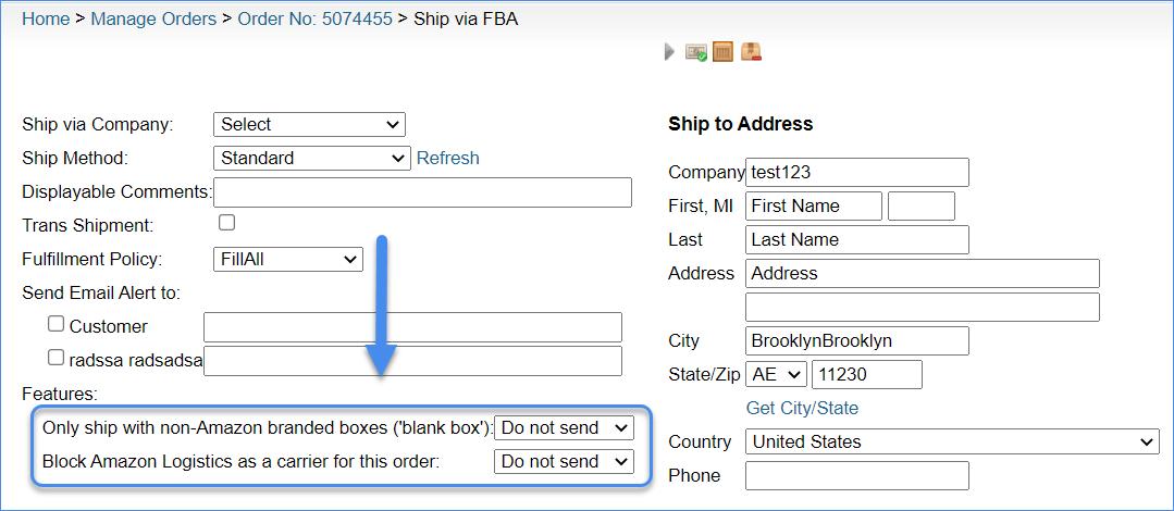 Amazon MCF Features