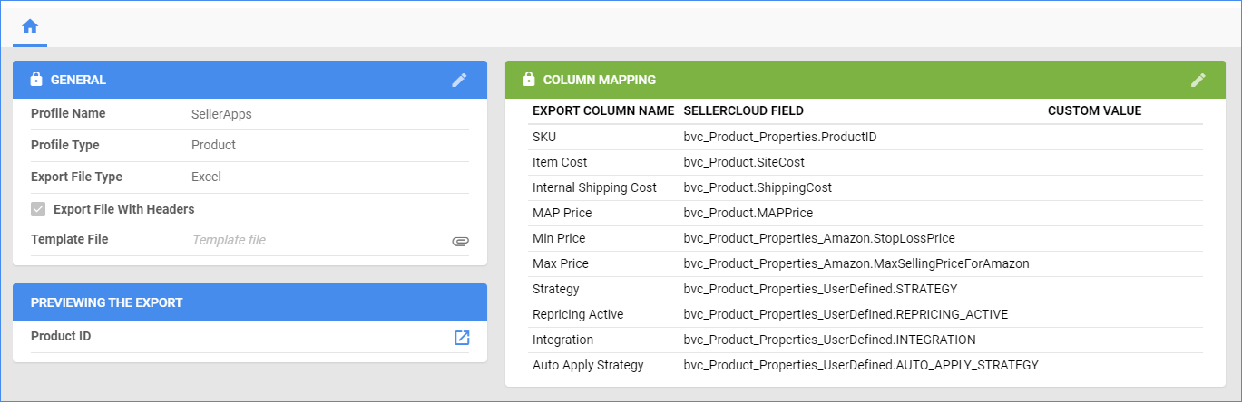 Export Mapping Tool Delta