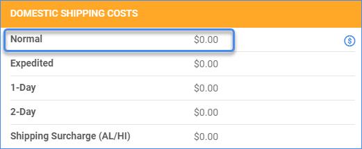 Internal Shipping Cost Delta